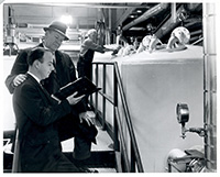 Henry Nottberg, Jr. and Bob Chamberlain at Schlitz Brewing