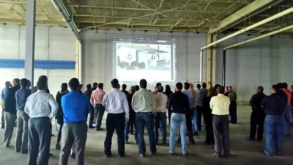 In April, U.S. Engineering showed employees preliminary plans during an open house at the new facility.