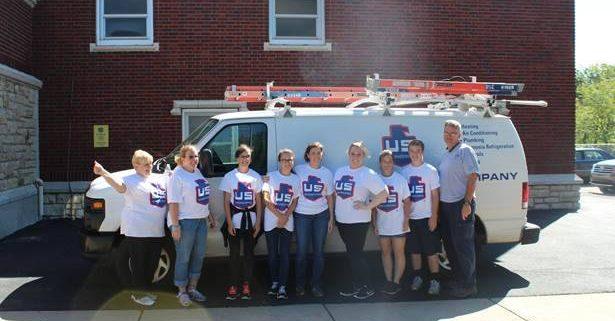 volunteering at Gordon Parks Elementary Kansas City
