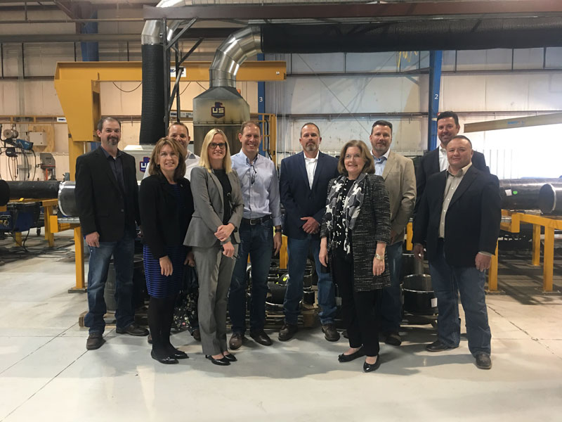 Representatives of the Fed's 10th District Tour U.S. Engineering Company